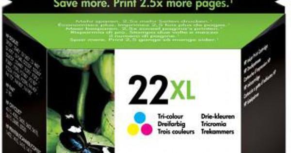 Hp C9352ce Tri Colour Ink Cartridge Hp Original No 22xl