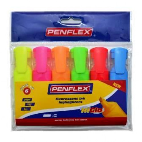 PENFLEX Higlo Highlighters - Wallet 6