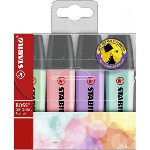 STABILO Boss Pastel Highlighters - Wallet 4