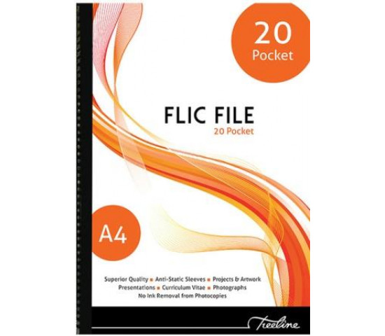 TREELINE A4 FLIC FILE 20 Pocket