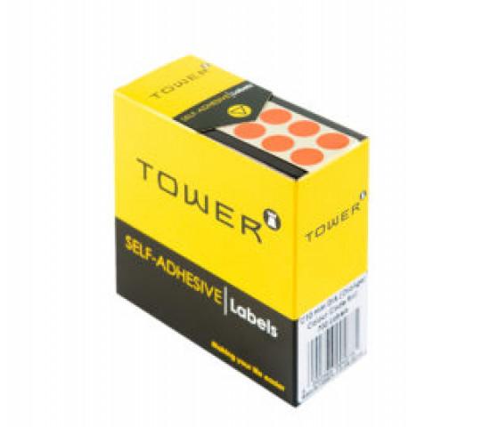 Tower Colour Code Labels Round 10mm Diameter Orange
