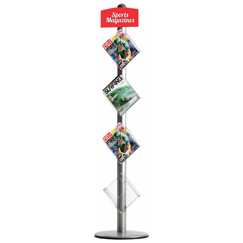 PARROT Novel Free Standing Leaflet Dispenser (4 x A4 Brochure Holders)