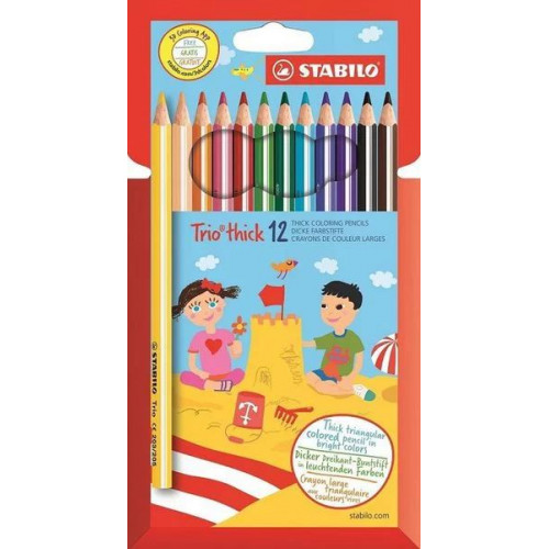 STABILO Trio thcik Colouring Pencils - 12s