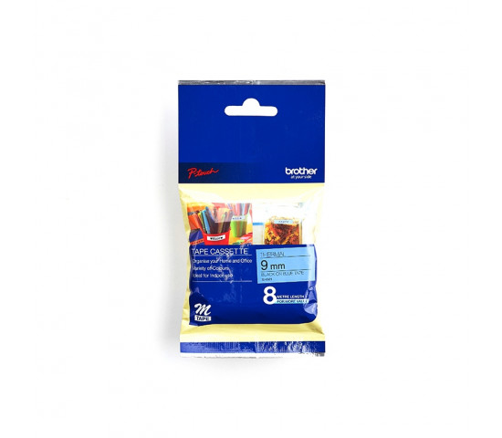 Brother MK521B Labelling Tape 9mm Black On Blue