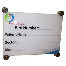 Hospital Glass Bed Board Printed