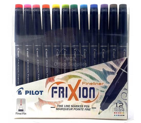 PILOT Frixion Fineliner wallet of 12
