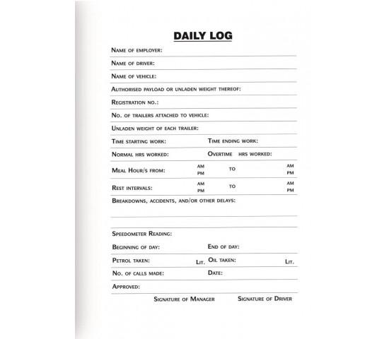 TREELINE Driver Log Book A5