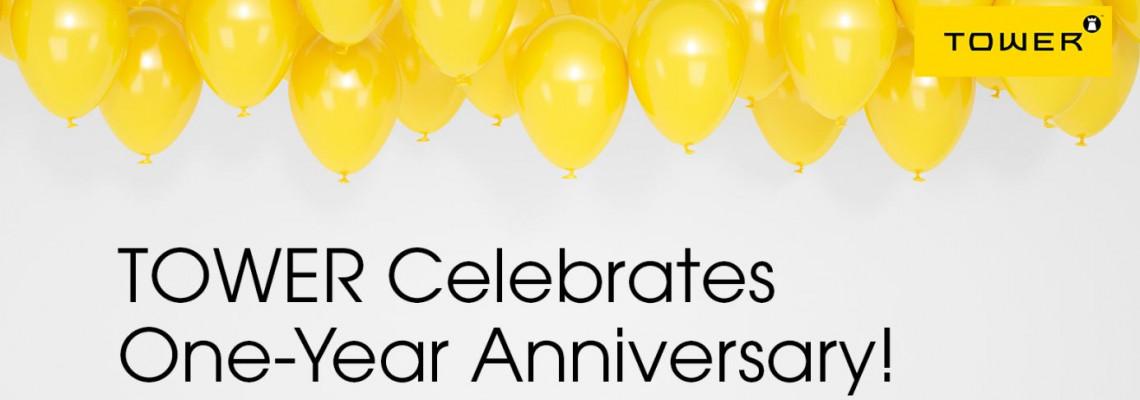 TOWER Celebrates One-Year Anniversary