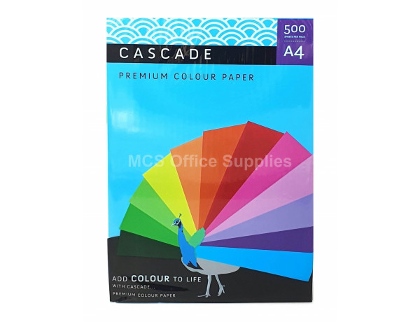 CASCADE A4 TURQUOISE Colour Paper 80gsm - Ream of 500 Sheets