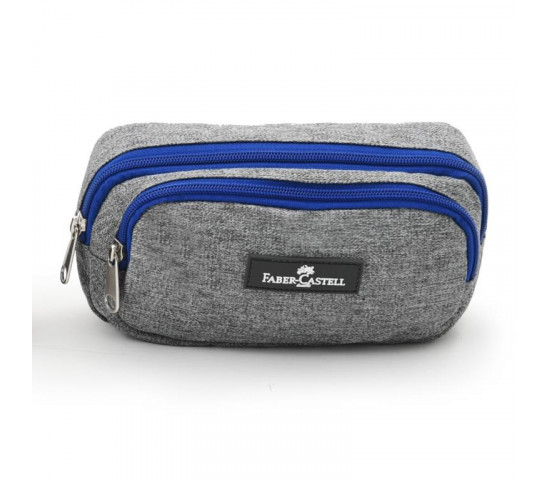 FABER CASTELL Pencil Case - 22cm - Grey / Dark Grey-Pacman