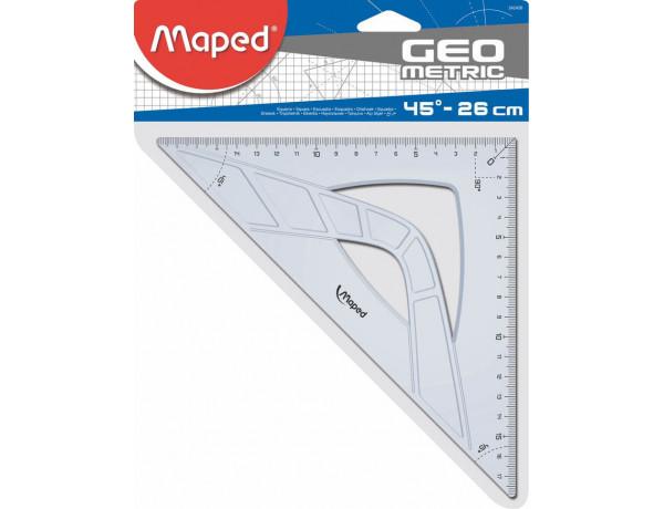 MAPED Set Square 26cm/45 Degree GEO Metric