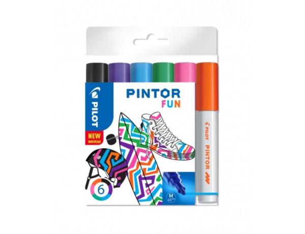 PILOT Pintor Markers FUN Colours - MEDIUM - Wallet 6