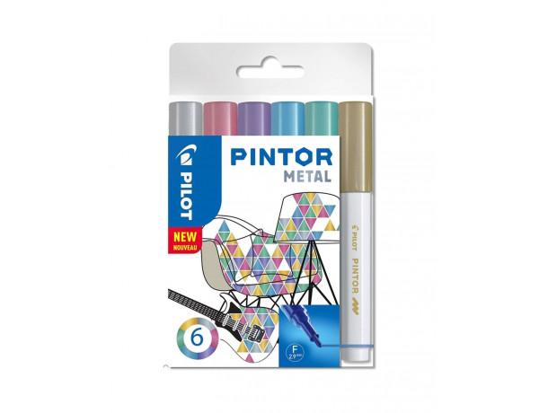 PILOT Pintor Markers METAL Colours - FINE - Wallet 6