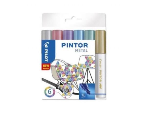PILOT Pintor Markers METAL Colours - MEDIUM - Wallet 6