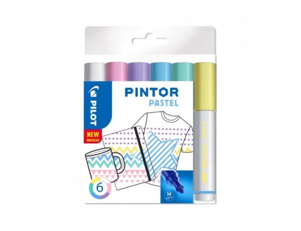 PILOT Pintor Markers PASTEL Colours - MEDIUM - Wallet 6