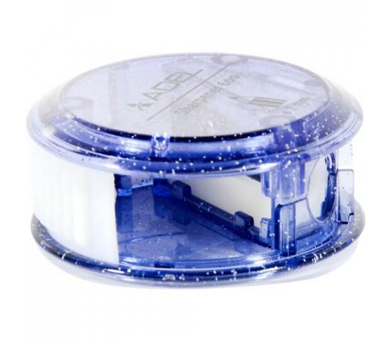 ADEL 1 Hole Plastic Sharpener With Barrel - BLUE