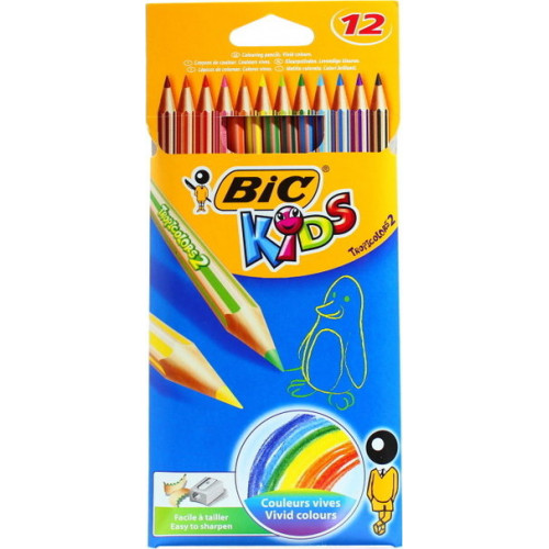 BIC Tropicolors 2 Colouring Pencils - 12s