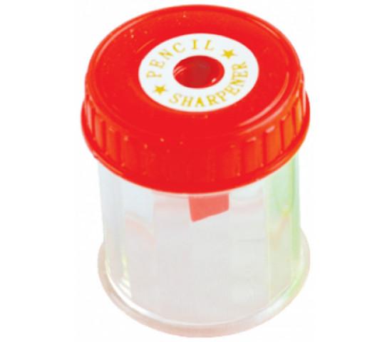FOSKA 1 Hole Plastic Barrel Sharpener - Assorted Colours