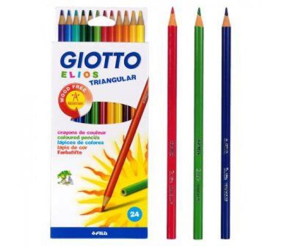 GIOTTO Elios Triangular Colouring Pencils - 24s
