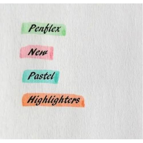 PENFLEX Higlo PASTEL Highlighters - Wallet 4