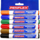 PENFLEX Whiteboard Marker Wb15 Wallet Of 6 Assorted