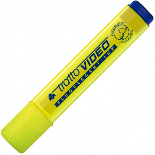 TRATTO Video Fluorescent Ink Highlighter - Yellow