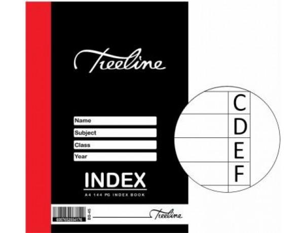 TREELINE Index Book A4 - 144 Page
