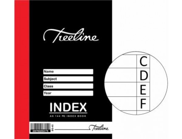 TREELINE Index Book A6 - 144 Page