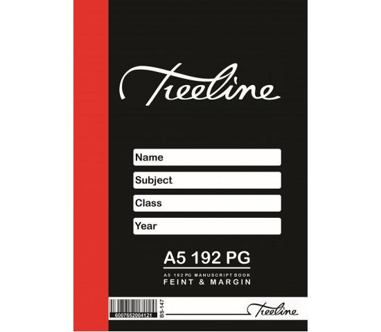 TREELINE A5 Manuscript Book Feint and Margin - 192 Page