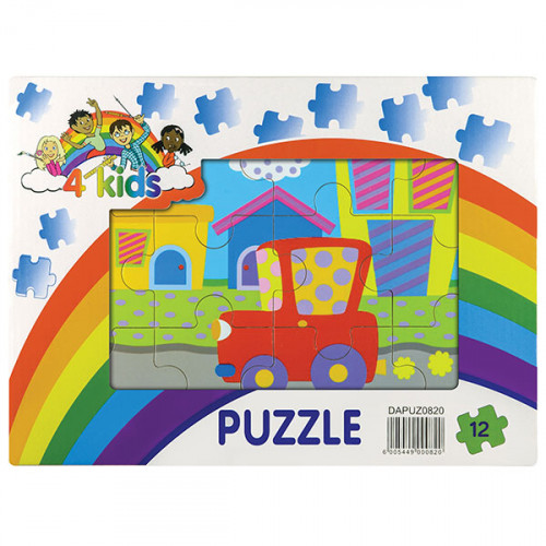 12 Piece Wooden Puzzle - Assorted Designs