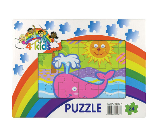 24 Piece Wooden Puzzle - Assorted Designs