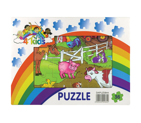 36 Piece Wooden Puzzle - Assorted Designs