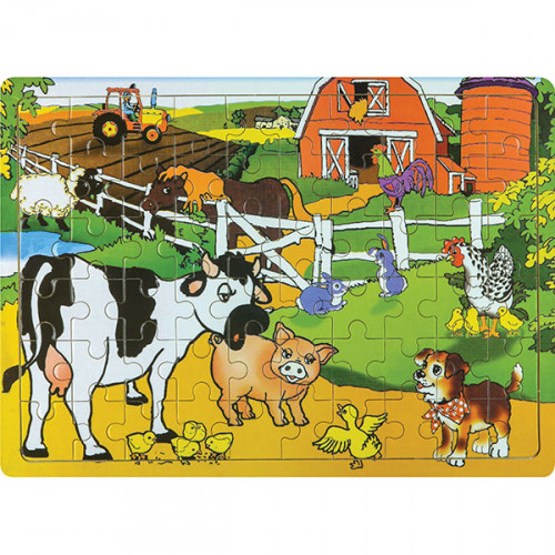 60 Piece Wooden Puzzle - Assorted Designs