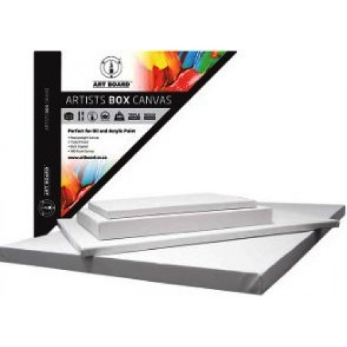 "ART BOARD Artist Box Stretched Canvas 380gsm - 12x16"""