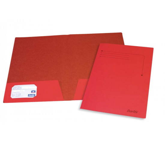 BANTEX A4 Presentation Smart Folder Red 10 Pack