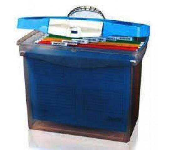 Bantex Portable Suspension File Case Cobalt Blue