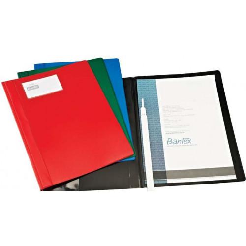 BANTEX A4 PVC Deluxe Quotation Folder Black