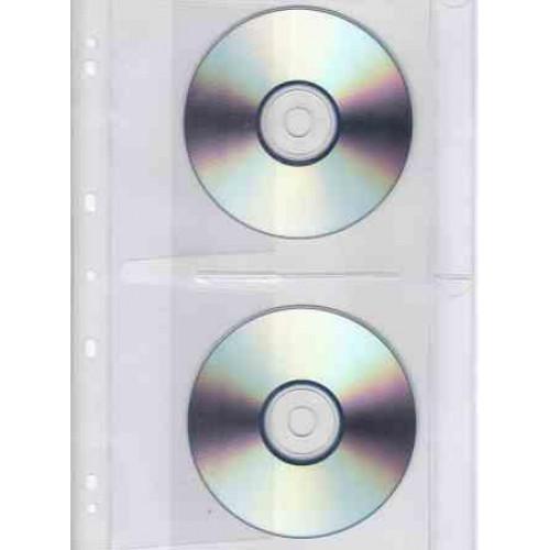 BANTEX A4 CD/DVD Filing Pockets - 10 Pack