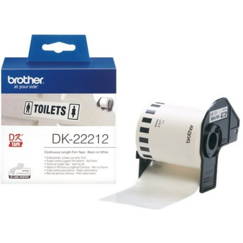 Brother DK22212 White Continuous Vinyl Film Tape