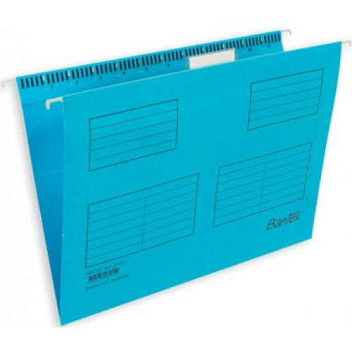 Bantex Suspension Files with Tabs and Inserts Cobalt Blue - Foolscap