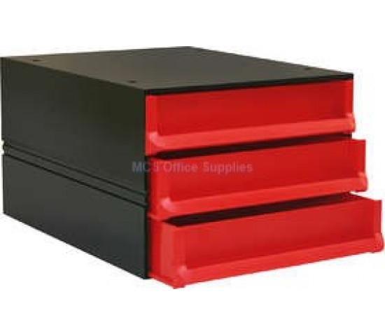 BANTEX Texo Modular Storage System 3-Drawer - Red