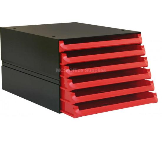 BANTEX Texo Modular Storage System 6-Drawer - Red