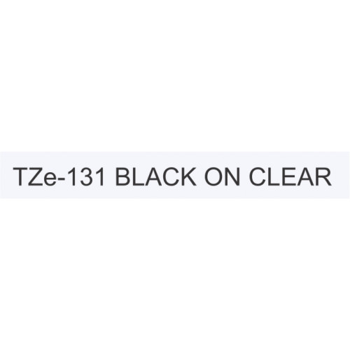 Brother TZ131 Labelling Tape 12mm Black On Clear Tape