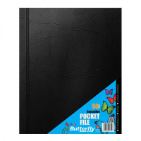 BUTTERFLY A4 Executive Pocket File (50 Pocket)