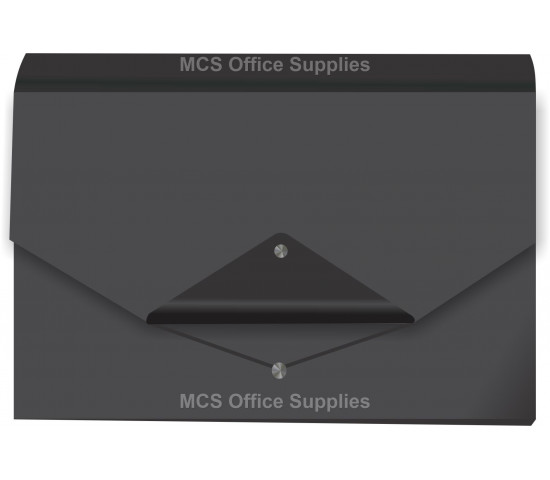 DONAU Concertina File Polyprop (13 Compartments) - Metallic Black