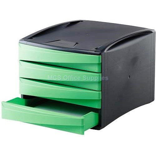 FELLOWES Green2Desk Desk 4-Drawer - Green