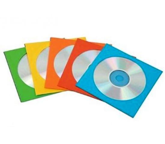 FELLOWES Coloured CD Paper Sleeves 50pk