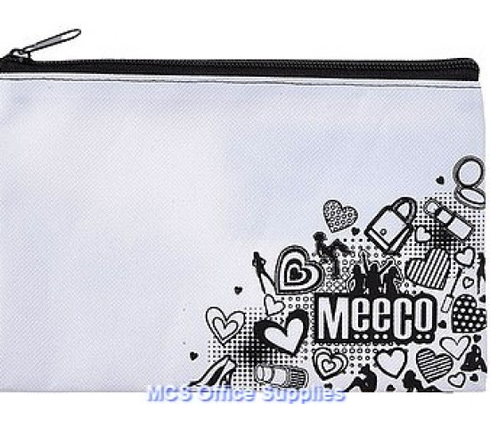 MEECO Doodle Me Pencil Bag Small With Zip Senior Girls