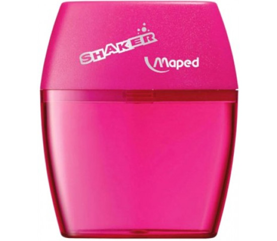 2 Holes Maped Shaker Pencil Sharpener with Large Capacity Blue