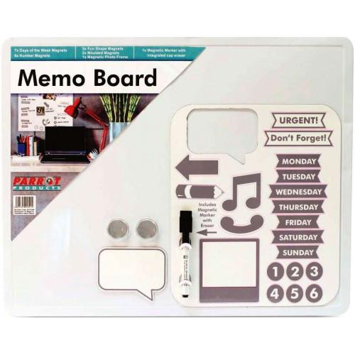 PARROT Magnetic Memo Board 500 x 400mm